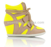 new style of girls hidden wedge sneakers