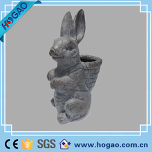 Small size resin rabbit statue garden decoration outdoor animals
