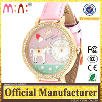 2016 new year gift oriflame watch for lady nylon watch strap we wood watch