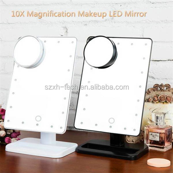 ILUMAY Lighted 10X Magnifier Cosmetic Vanity Tabletop Mirror