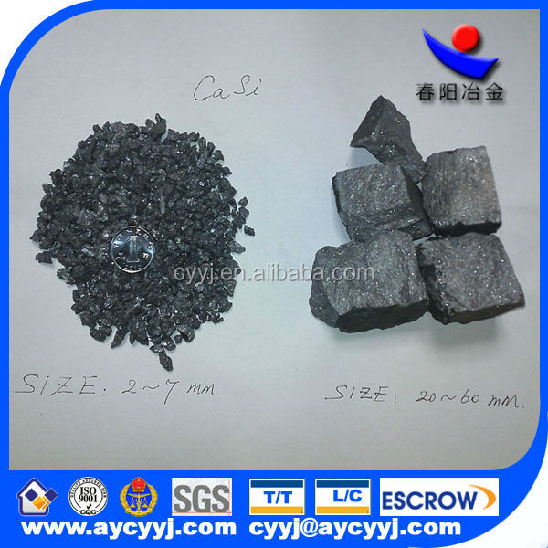 CA:28-30%min SI:50-60%min C:1.0%max P:0.04%max S:0.04%max RAW MATERIAL SILICON METAL AND CALCIUM METAL