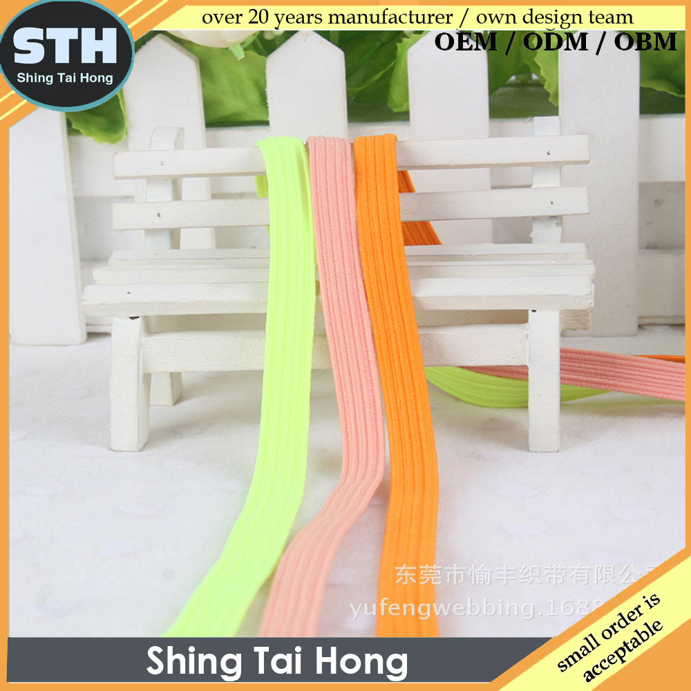 6mm Customed Polyester Elastic Band for Home Textile,Bag,Garment,Shoes