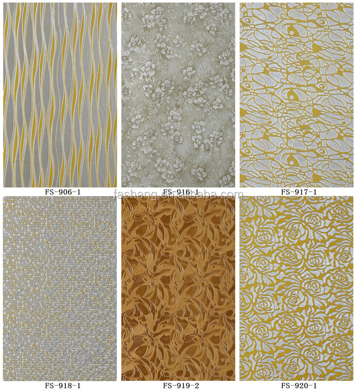 Interior decoration 3D embossed MDF wallpaper paneling 4'x8'