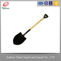 High Carbon Steel Heavy Duty Digging Shovel Spade With Long Wooden Handle