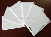 Good Quality standard size CR80 blank rfid pvc id cards with chip