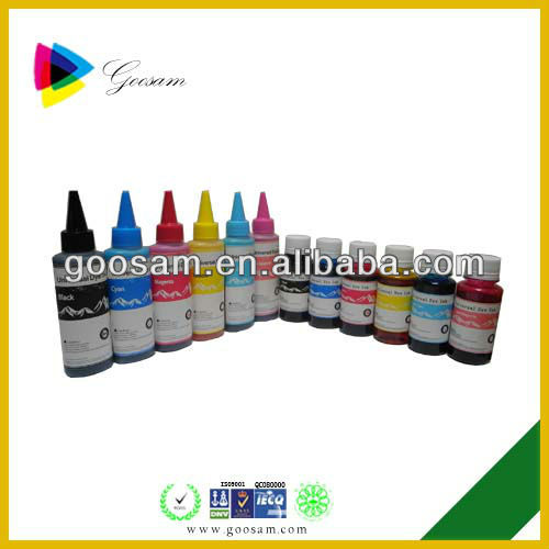 Good fluency inkjet bulk dye Ink for HP Designjet T610 plotter