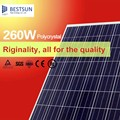 High efficiency 260W poly PV solar panel/module with good price and TUV,CQC,MCS,CEC