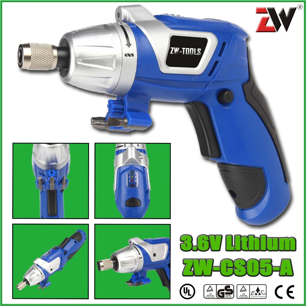 ZW-CS05-A 3.6V Lithium Li-ion Cordless Screwdriver mini electric drill Rechargeable screwdriver