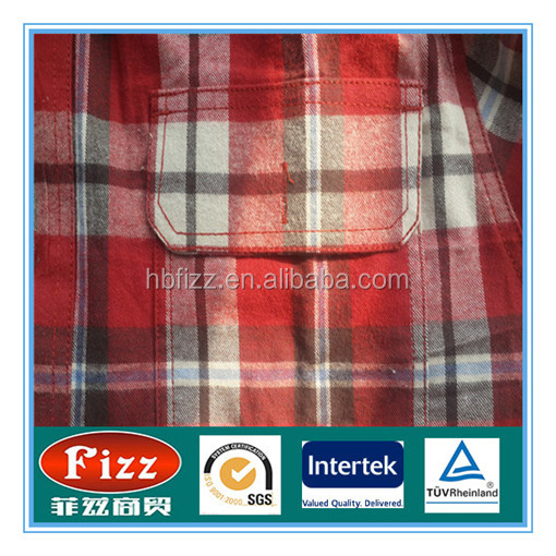 100% cotton yarn dyed shirt fabric twill