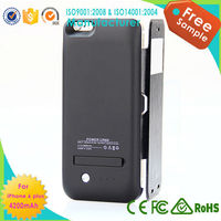 Newest 4200mAH External Rechargeable Case Power Bank Pack Backup Battery Charger Case for Apple iphone 6