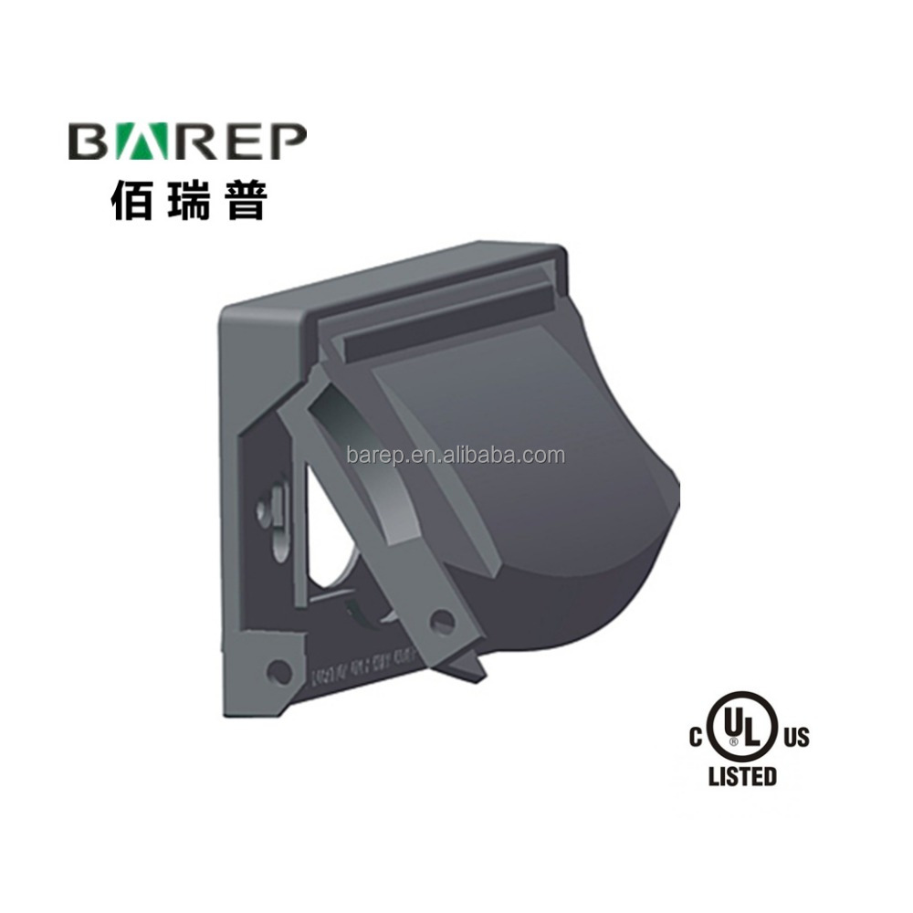 UL listed customized plastic gfci weatherproof outlet cover BAO-003