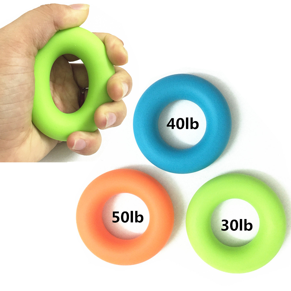 Silicone High Strengtheners Hand Grip Ring Finger Massage Ring Circle