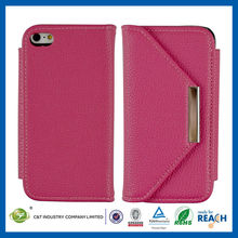 Hotsale design high quality cute pink cell phone flip cover case for iphone 5c