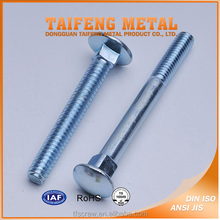 Carbon Steel Mushroom Head Square Neck Carriage Bolt with Zinc Plated