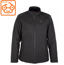Good quality womens softshell electric battery powered waterproof heated jacket clothing motorcycle
