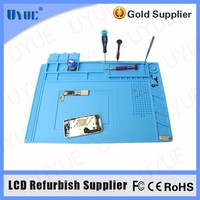 45x30cm Heat Insulation Silicone Pad Desk Mat Maintenance Platform for BGA Soldering Repair Station Magnetic Section