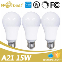 UL listed LED Bulbs Daylight 3000K 15W Dimmable LED Bulb Light E26 base 100 Watt Incandescent Bulbs Equivalent