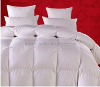 thick comforter/plain white solid color down proof duvet