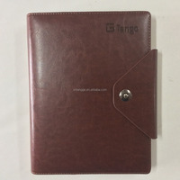 Business pu leather notebook cover high quality agenda case nice design