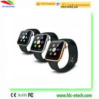 2015 New coming heart rate monitor MTK2502A for iPhone/Androids bluetooth A9 smart watch