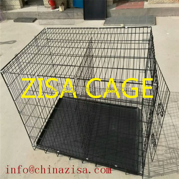 china zisa factory produce Black DOG CAGE 20'' 24'' 36'' 42'' metal dog crate for sale