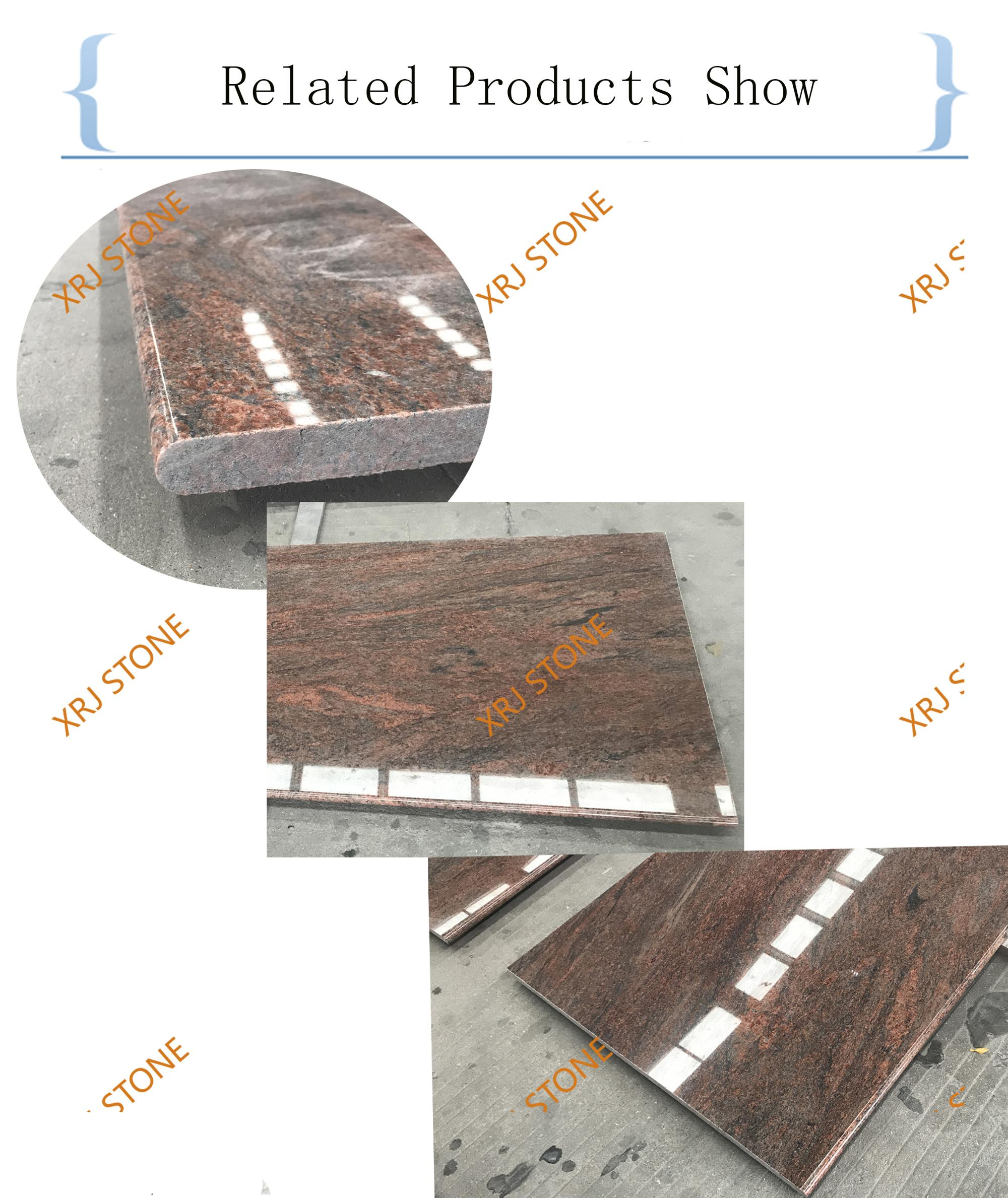 Best Sell High Polished  Multicolor Red Granite Countertop
