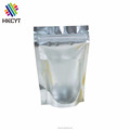 Silver or Gold Aluminum Foil Laminated Doypack Clear Window Pouch