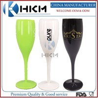 Fancy Drinking Glass / Champagne Glasses / Colorful PLASTIC Champagne Flutes
