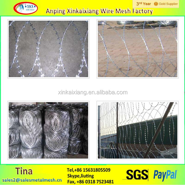 BTO28 Razor Barbed Wire,Galvanized Razor Wire,Low Price Concertina Razor Barbed Wire