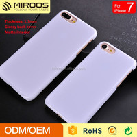 New arrival White PC 1.3 thickness phone case for iphone 7 7plus oem odm design custom logo cover