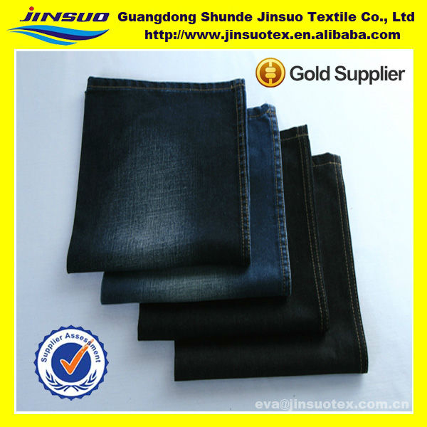 Good Quality Flat Finished Ring Spun 100% Cotton Denim Fabrics For Clothing
