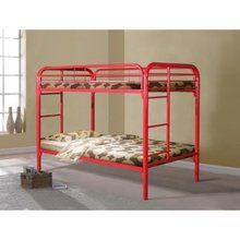 factory directs sales Kids Modern Metal military bunk bed Gloss Red