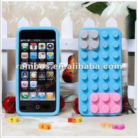 For IPhone 5 mobile phone smart building block toy silicone back cover 3d case