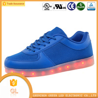 Breathable USB rechargeable led shoes italy men casual shoes
