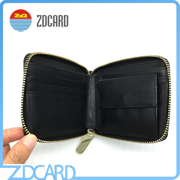 Unisex Gender PU leather/genuine leather Material rfid blocking wallet
