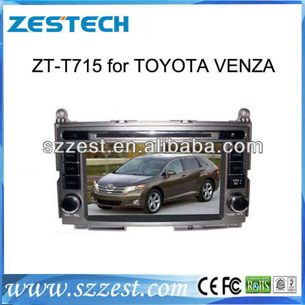 ESTECH DVD Supplier 2 Din Touch screen Car Auto Part for Toyota Venza Car Auto Part with DVD GPS Navigation System Radio