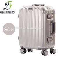 Professional excellent quality strong metal frame trolley luggage