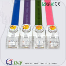 Credit Sale Multi color Injection Molding Secure Cat5e Patch Cord