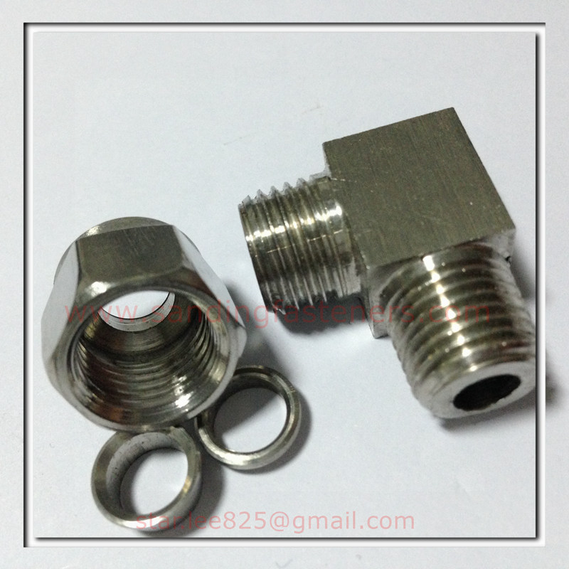 Stainless steel Swivel Nut Hydraulic push in fittings for Radiator elbows
