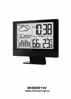 2016 Popular LED table digital weather station clock (GH0301W)