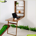 Wall mount teak wood waterproof table