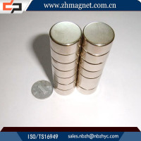 neodymium ndfeb magnetic sheet disc disk with nickel zinc coating