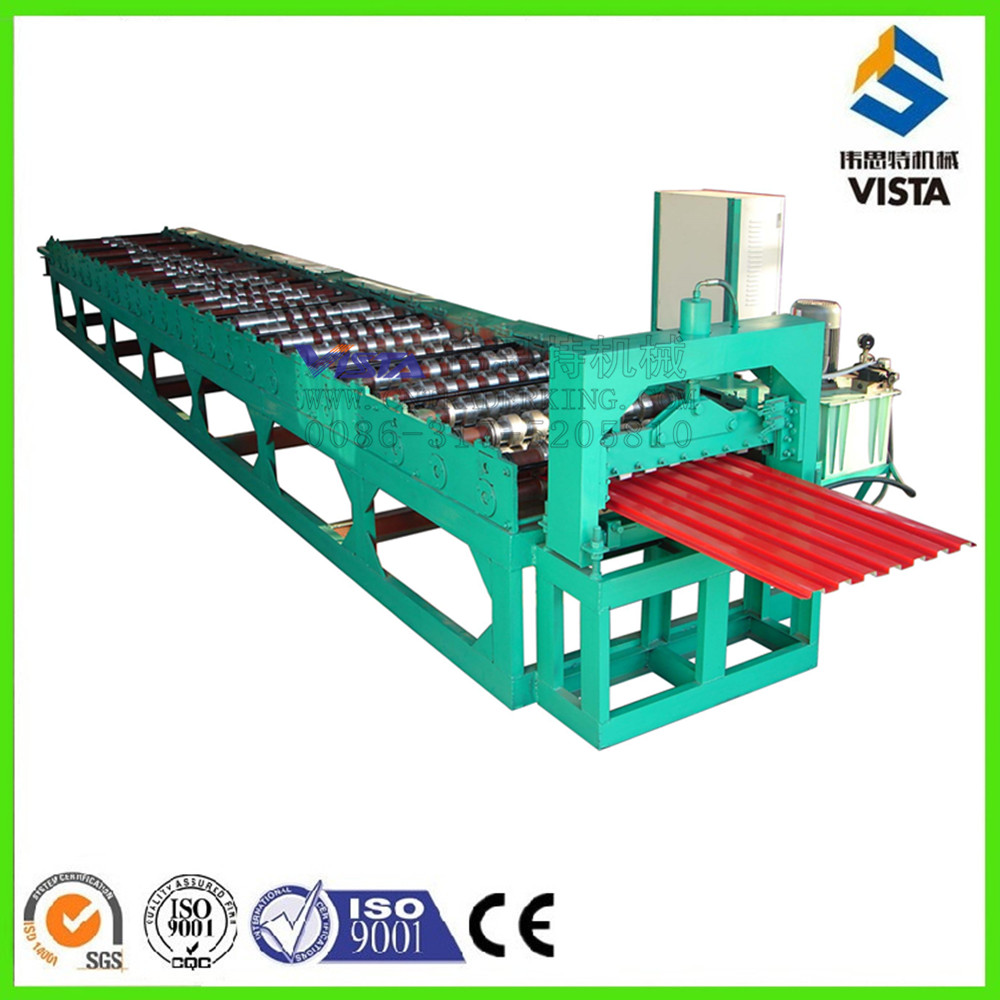 45# Steel Chain Drive Octagon Pipe Shutter Door Roll Forming Machine
