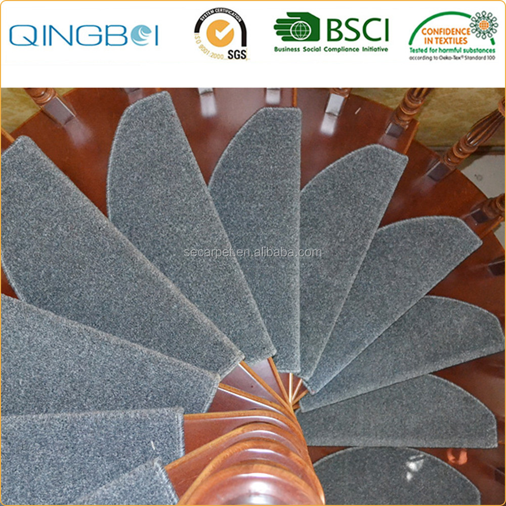 Non slip Wood Comfortability indoor stair treads carpet