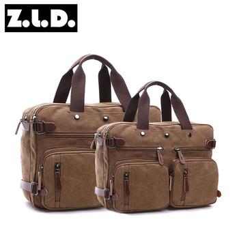 solid color backpack men travel high capacity canvas messenger bag men  canvas hand bag f6b26d20d8