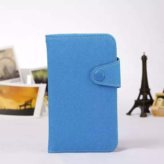 Newly Denim jean Wallet stand case for samsung I9060&9082 flip case