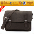 Guangzhou baiyun bag factory genuine leather laptop messenger bag for man