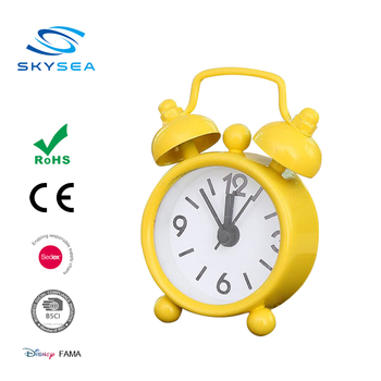 Mini Metal Twin Bell Table Clock With Alarm Function From Guangzhou China