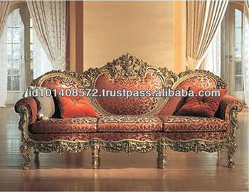 Mahogany Sofa 3 Seater Classic Design Indoor Furniture.
