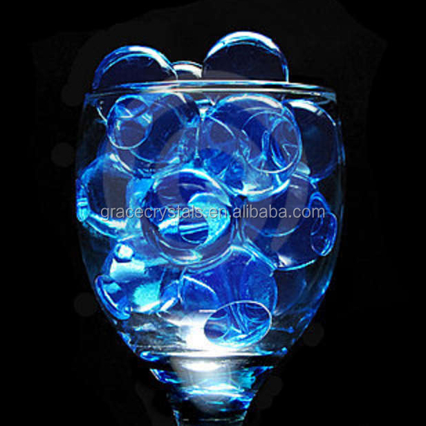 Transparent blue crystal soil fower soil water beads